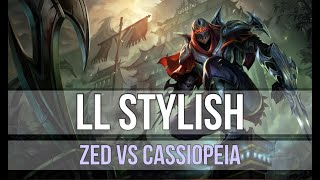 LL Stylish as Zed vs Cassiopeia - s9 MID Ranked Gameplay