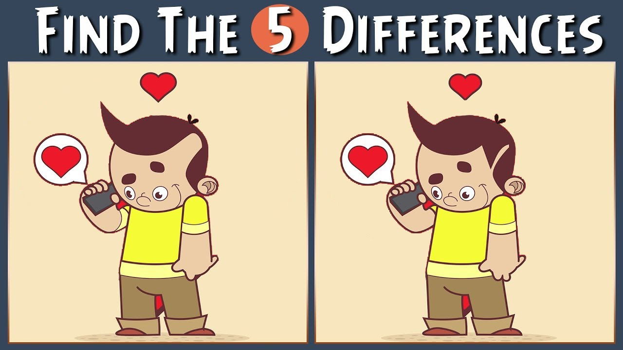 Find The Difference | Find The 5 Differences