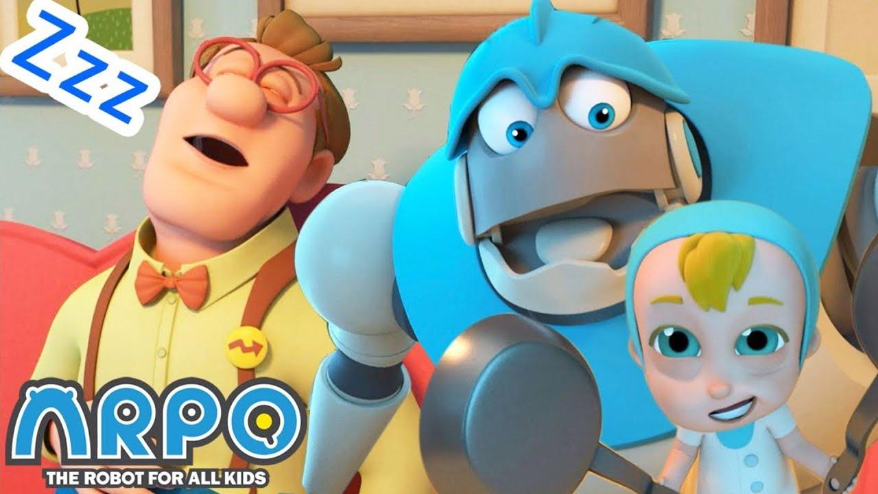 SHHHH! Don't Wake Daddy + More Arpo Cartoons For Kids   Sandaroo Kids Channel