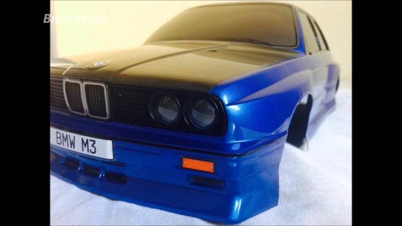 Bmw E30 M3 Blue Black Rc Car Drift Body 1 10 Tuning Full