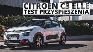 Citroen C3 Elle 1.2 PureTech 82 KM (MT) - acceleration 0-100 km/h