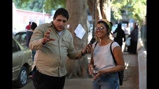 مذيع الشارع| الفرق بين المصري والاجنبي لما يشوف حاجه عليها عرض