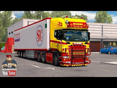 [ETS2 v1.28] Scania R & Streamline (RJL) Red & Yellow + Accessory Pack