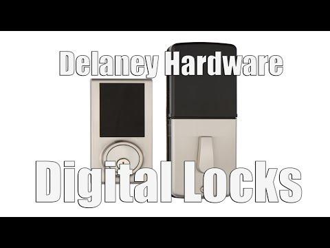 Delaney Hardware Digital Locks  KP300 And Handlesets Sk500