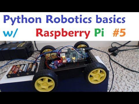 Raspberry pi with Python for Robotics 5 - Turning our car