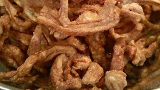 C/w Nana: Lao Fried Pork Ears (ຂຽບຫູໝູ == Khiab Hoo Moo)
