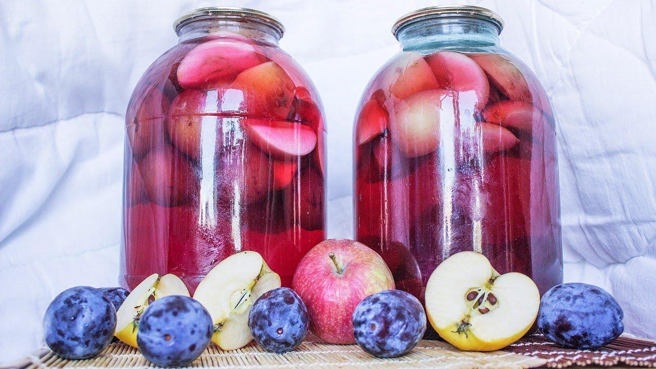 как приготовить компот из яблок на зиму смотреть видео