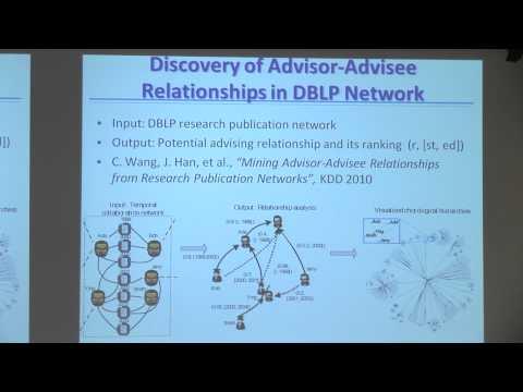 [PURDUE MLSS] Mining Heterogeneous Information Networks By Jiawei Han (Part 2/2)