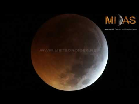 Impact on the Moon during the Jan.21 lunar eclipse