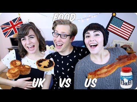 Food! British VS American | Evan Edinger & Dodie Clark & Savannah Brown