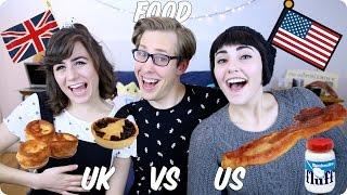 One of Evan Edinger's most viewed videos: Food! British VS American | Evan Edinger & Dodie Clark & Savannah Brown