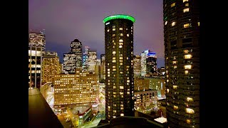 Seattle Streets at Night from above and below November 2018 4K UHD