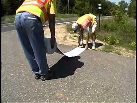 3m Stamark Pavement Marking Tape Vs Thermoplastic Youtube