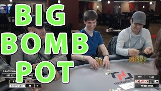Poker Time: STRANGE Bomb Pot with a Big Decision