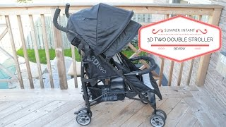 REVIEW! Summer Infant 3D Two Convenience Double Stroller
