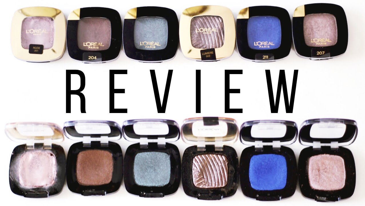 Loral Colour Riche Eye Shadow Review Beauty Bite Youtube