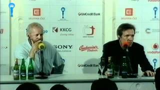 Tisková konference k filmu Spoluautor / Press conference presenting the film Collaborator