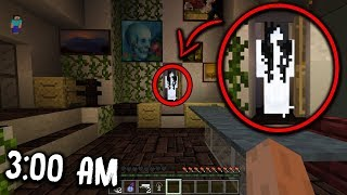 We are NOT ALONE in this Minecraft Pocket Edition House at 3:00 AM... (Scary Minecraft Video)