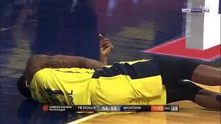 Horrible injury!! James Nunnally - Euroleague game.