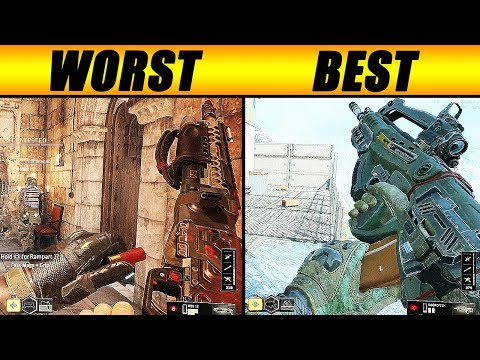 the BEST and WORST gun in BO4