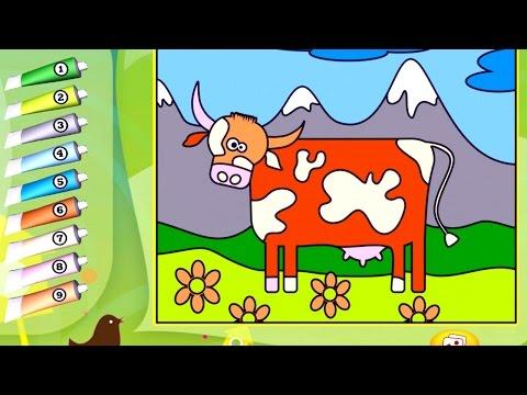 животных игры про раскраски