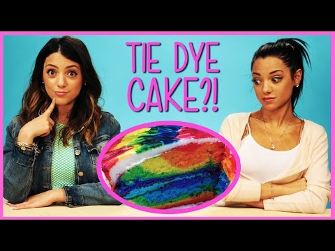 NikiAndGabiBeauty Rainbow Tie Dye Cake?! | Niki and Gabi DIY or Di-Don't