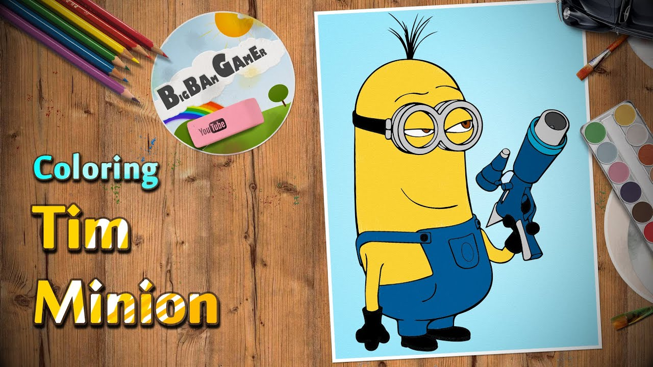 tim minion coloring drawing despicable me painting coloring pages