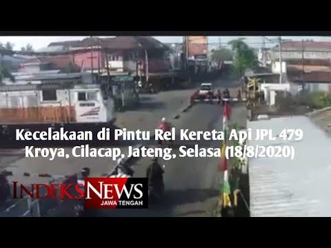 Pengendara Motor Ditabrak Kereta Api di Kroya, Cilacap,  Selasa tgl 18 Agustus 2020
