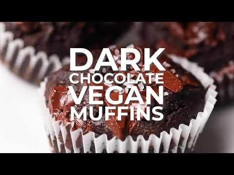 Dark Chocolate Vegan Muffins