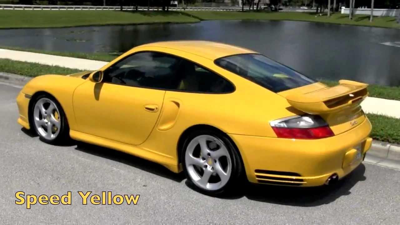 2003 Porsche 911 Carrera 996 Ruf Turbo Speed Yellow Gulfstream Motorcars