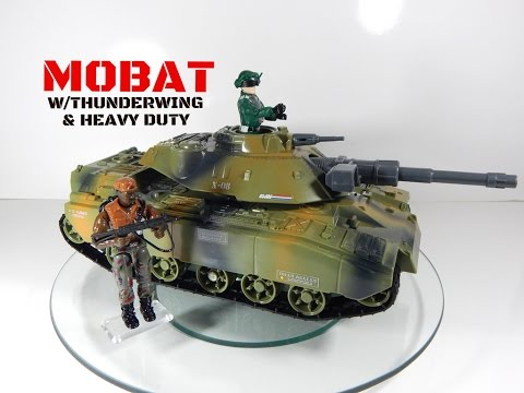 Vintage G.I. Joe MOBAT Motorized Battle Tank W/Thunderwing & Heavy Duty Toy Review