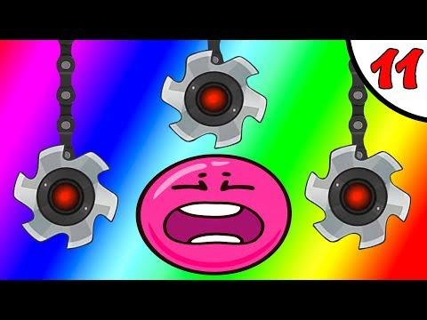 Несносный КРАСНЫЙ ШАРИК против чёрного квадрата и злого шара #11. Мультик Red Pink Ball на Игрули TV