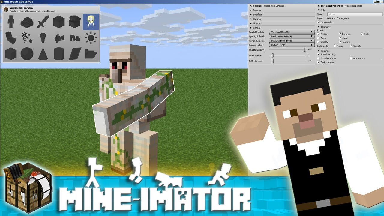 Mine Imator Tutorial The Interface How To Use Mine Imator 1 Youtube