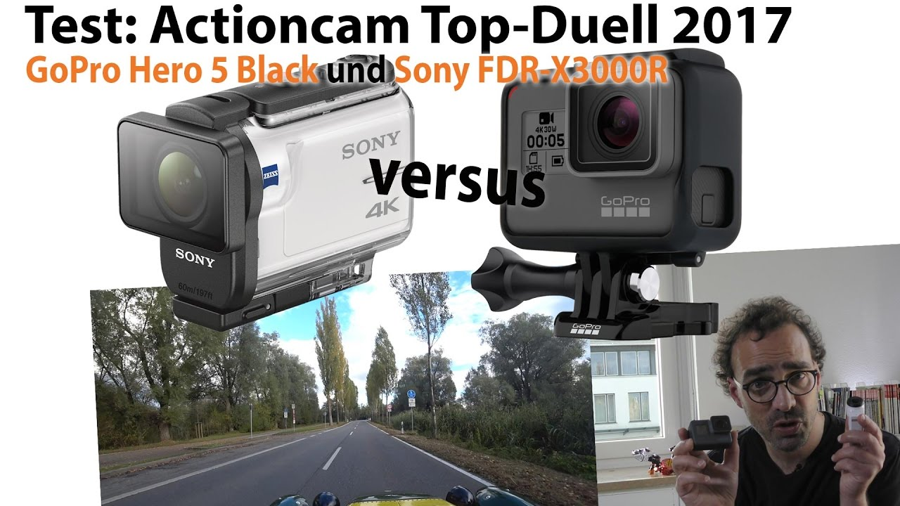gopro hero 5 black vs sony fdr x3000 top action cam test. Black Bedroom Furniture Sets. Home Design Ideas