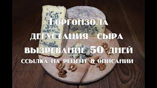 Горгонзола , дегустация ранее приготовленного сыра   Ссылка на рецепт приготовления в описании видео