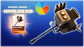 Fortnite StW : LEAD SLED = Purchase and 1st Look - Winner & New Giveaway | PvE