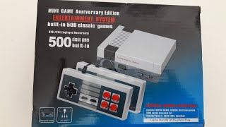 UNBOXING Ethertainment system -  NESS MINI - CLON  CHINA 500 JUEGOS