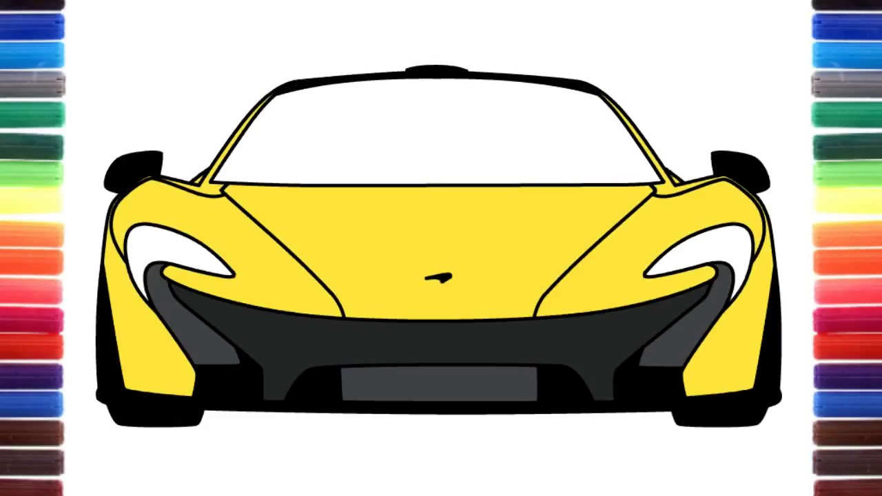 How To Draw A Car Mclaren P1 Front View Super Sport Car Youtube