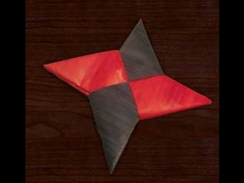 How To Make A Paper Ninja Star Easy Fast Youtube