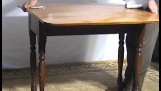 Ohio's Old Wood Market  Maple And Oak Drop Leaf Table  Bu41