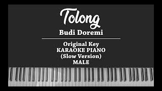 Tolong (MALE KARAOKE PIANO COVER) Budi Doremi (Slow Version)