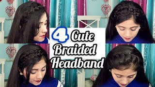 4 Cute Braided Headband - Braided Headband Natural Hair | Easy Hairstyles Heatless