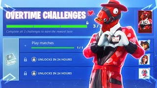 The New Fortnite OVERTIME CHALLENGES FREE REWARDS! (New Fortnite Share The Love Event)
