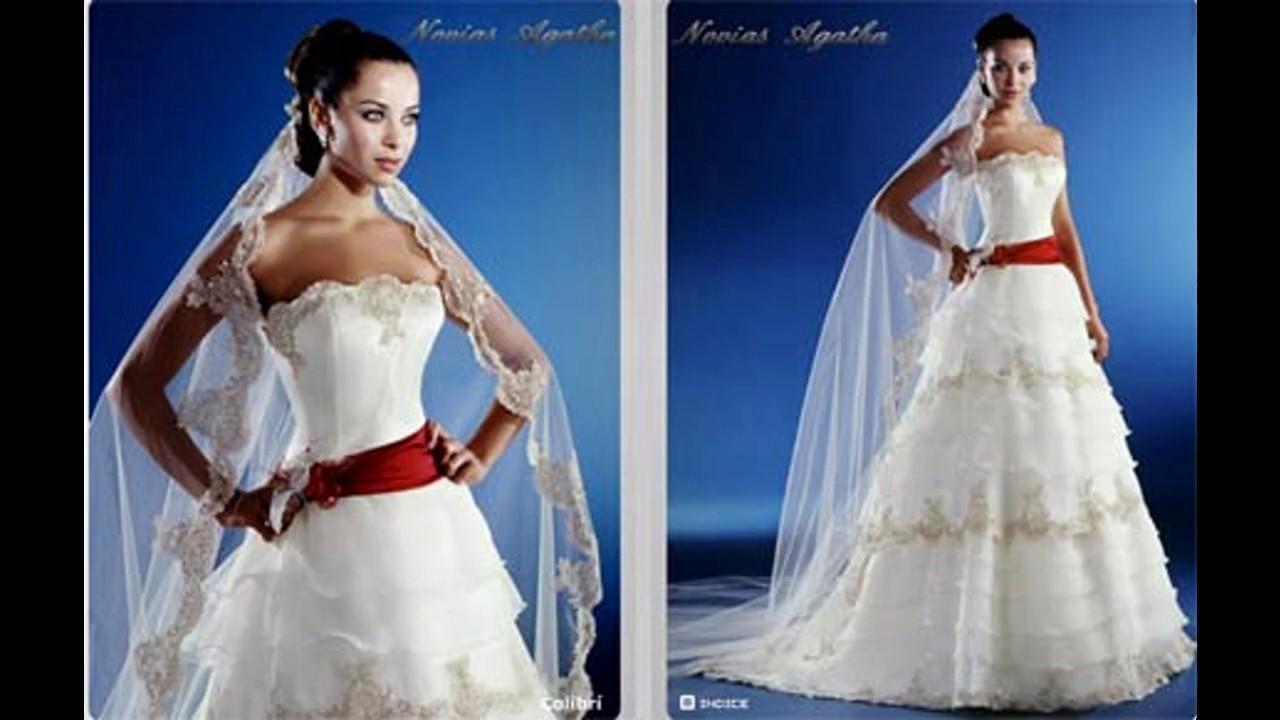 Vestidos de novia para una boda con diamantes - YouTube