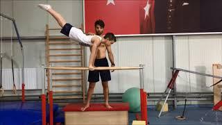Yusuf Emre Artistik Cimnastik Paralel Çalışması Kocaeli 2017