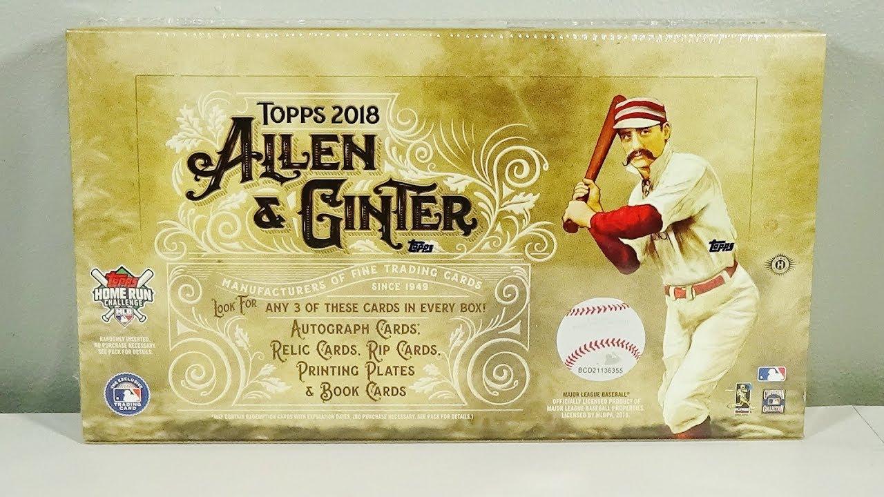 2018 Topps Allen Ginter Baseball Hobby Box Break Nice