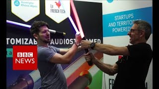 The lightsaber you can strike with force - BBC News