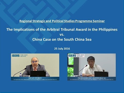 Seminar: Case on the South China Sea by Dr Ian Storey