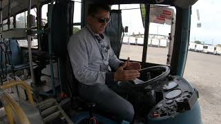 Teste de volante ônibus urbano