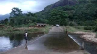 Riding through the Vattaparai Forest Stream, Kanyakumari district, Tamil Nadu.